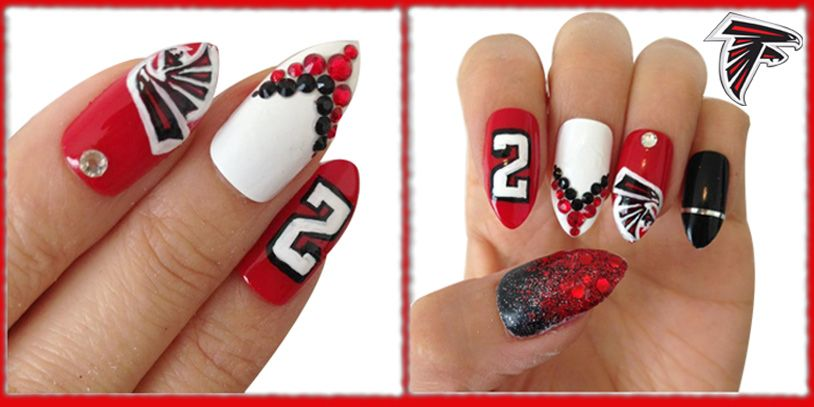 Atlanta Falcons Inspired Nail Art Even If You Aren T Able To Duplicate Everything