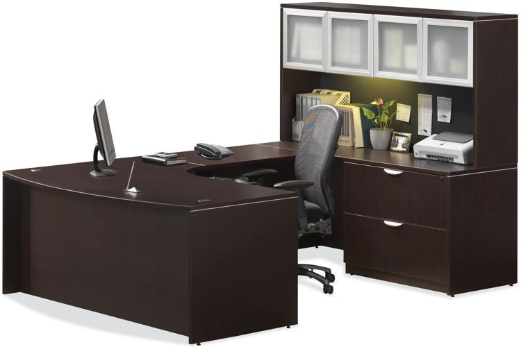 u shaped desk with hutch by office source she works hard for her rh pinterest com