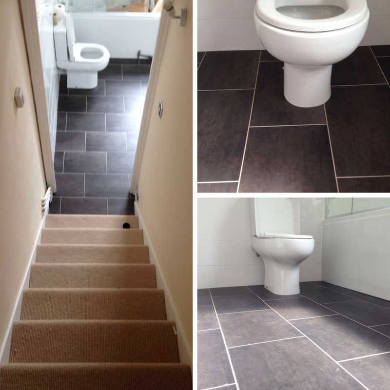 amtico flooring installed to a bathroom in central london residence rh pinterest co uk