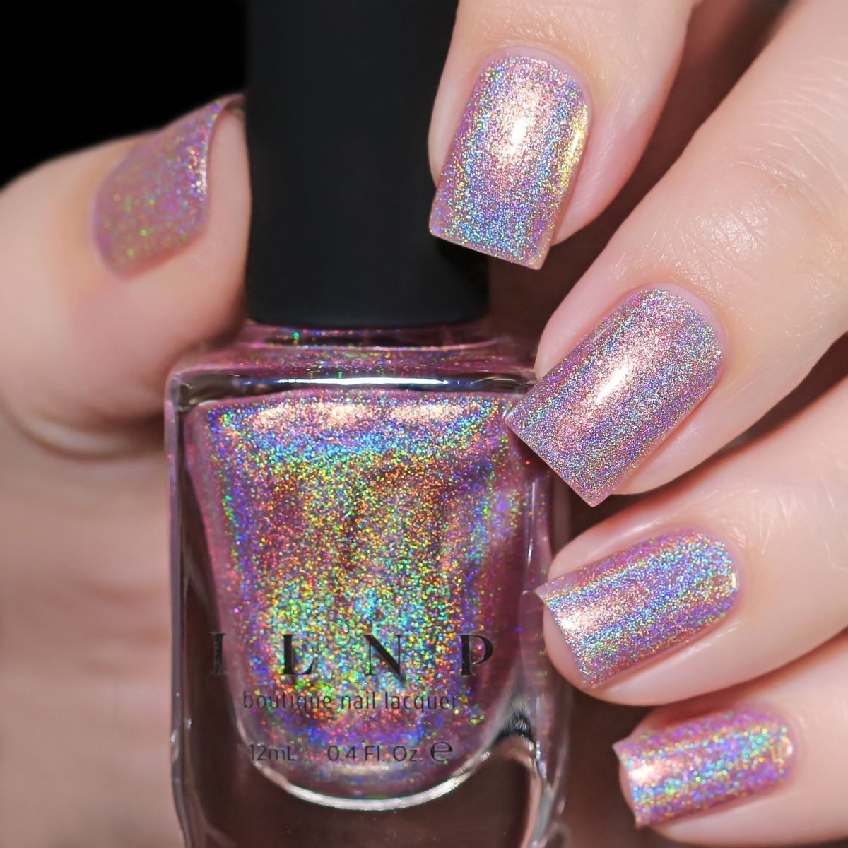 Morning Rays – Mauve Pink Holographic Shimmer Nail Polish by ILNP – #holographic #mauve #morning #polish #shimmer –