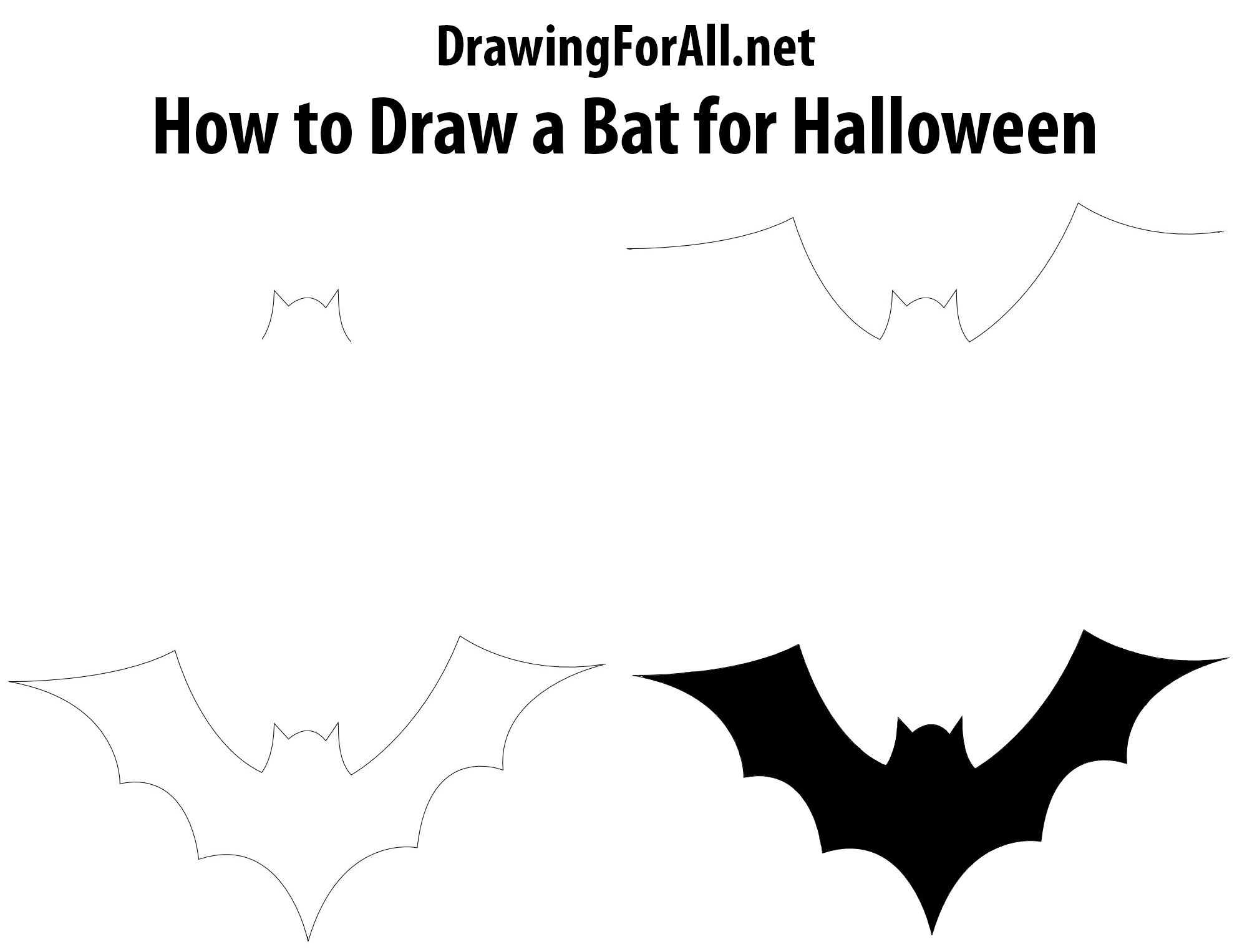 How To Draw A Bat For Halloween Draw A Bat Halloween Doodle