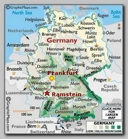 ramstein air base germany map