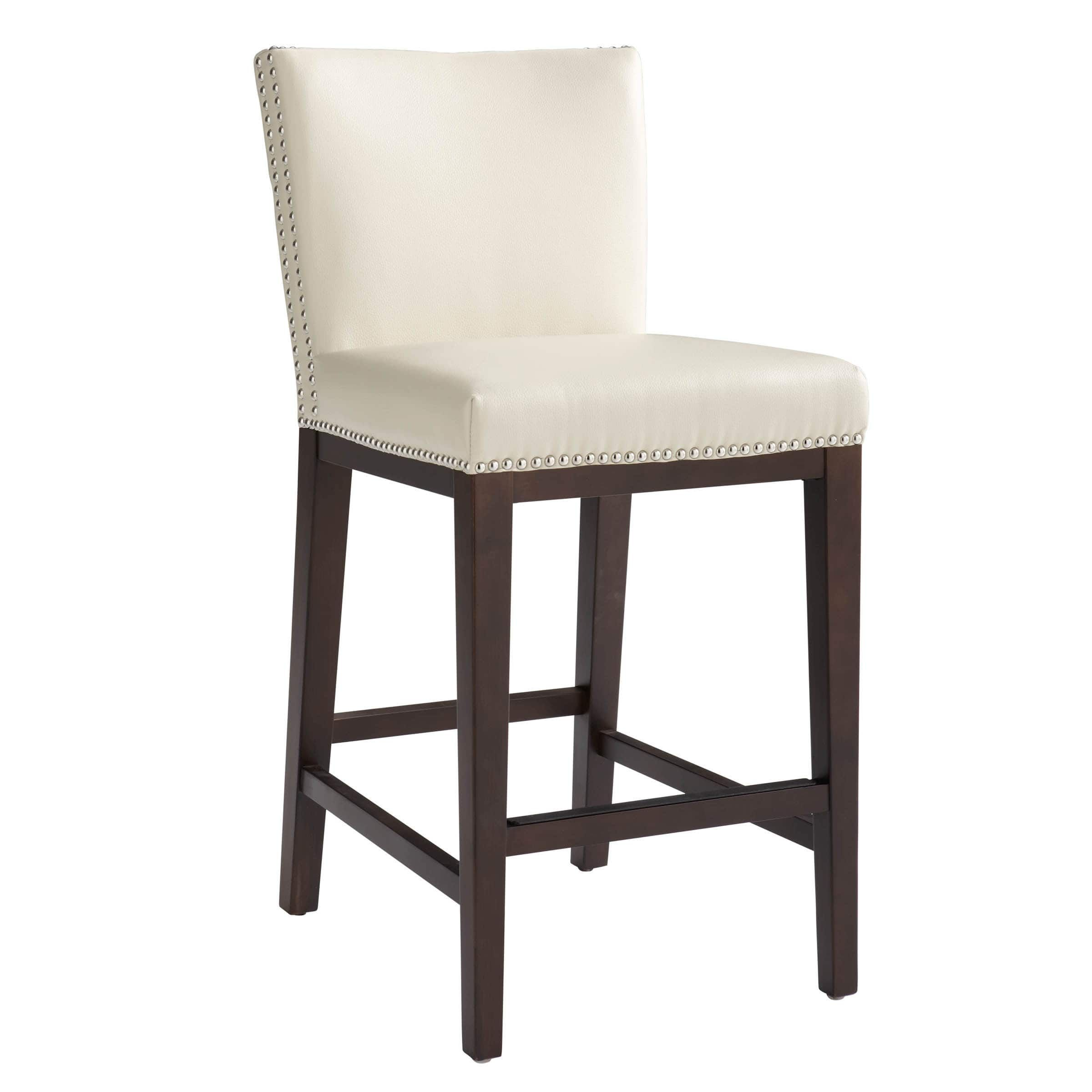 Excellent Oliver James Grayson Bonded Leather 26 Inch Counter Stool Bralicious Painted Fabric Chair Ideas Braliciousco