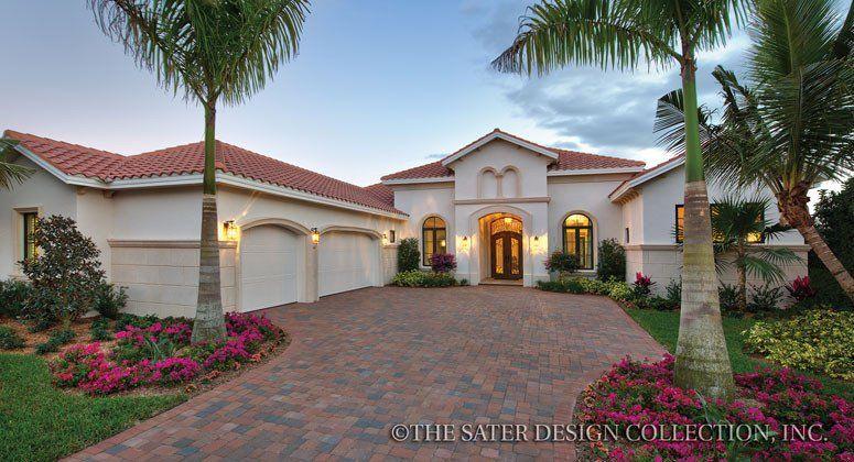 sater design s vittoria l florida style home plans l luxury house rh pinterest com