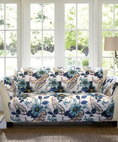 another great find on zulily blue floral cora sofa protector rh pinterest co uk