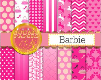 Hot pink digital paper barbie digital paper in hot pink explore hot pink background and more voltagebd Image collections