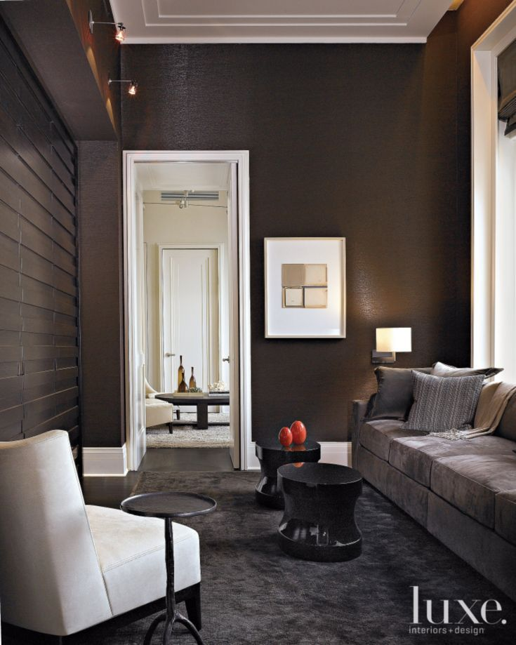 modern brown family room for the home brown family rooms home rh pinterest com