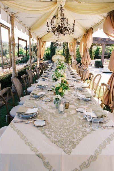 fabulous lace table cloth paired with draperies and chandeliers rh pinterest com