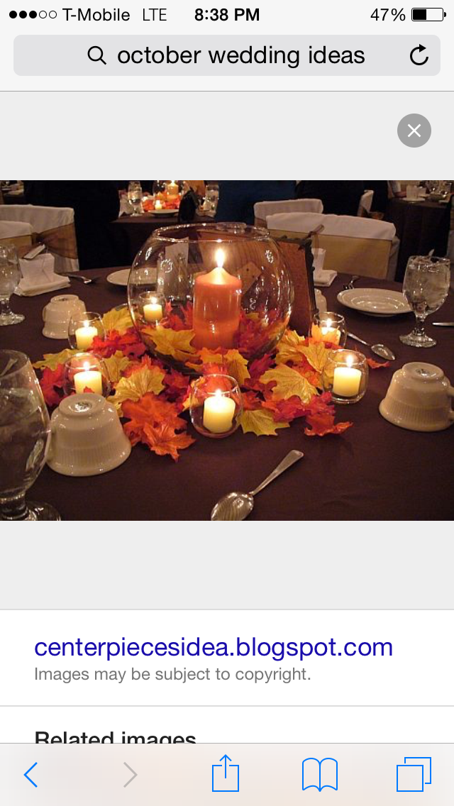 pinterest wedding table decorations candles%0A    Candle and Fall Decor Ideas  I pinned this on the Candle Board  The post  read Fall Wedding Decor  but you can use these for a Thanksginving Table