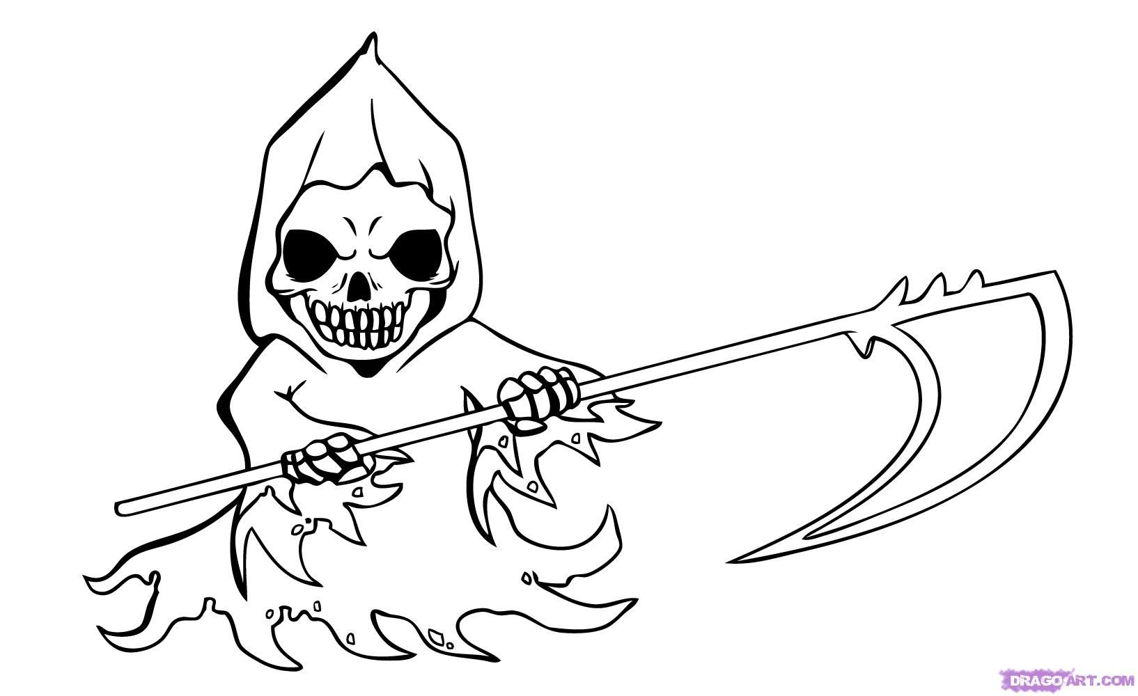 Uncategorized How To Draw A Grim Reaper image result for grim reaper drawing kids collab with nick kids