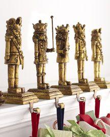Nutcracker Stocking Holders Holiday Decor Christmas Traditional