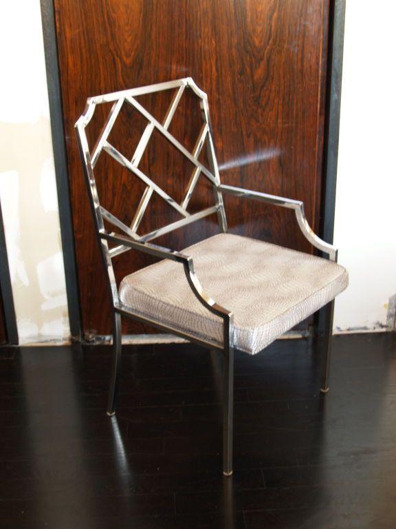 6 milo baughman chrome chippendale dining chairs dining room ideas rh pinterest com