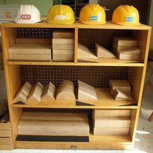 Stand Back Hats On Kindergarten At Work Preschool Block Area Block Area Preschool Construction