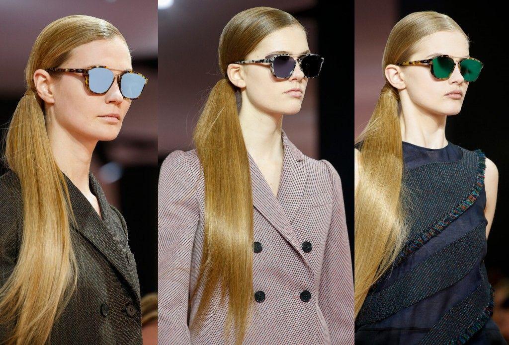 ba2f77e17d348 Dior Square Abstract Havana Sunglasses. The sunglasses on the Fall 2015  runway.