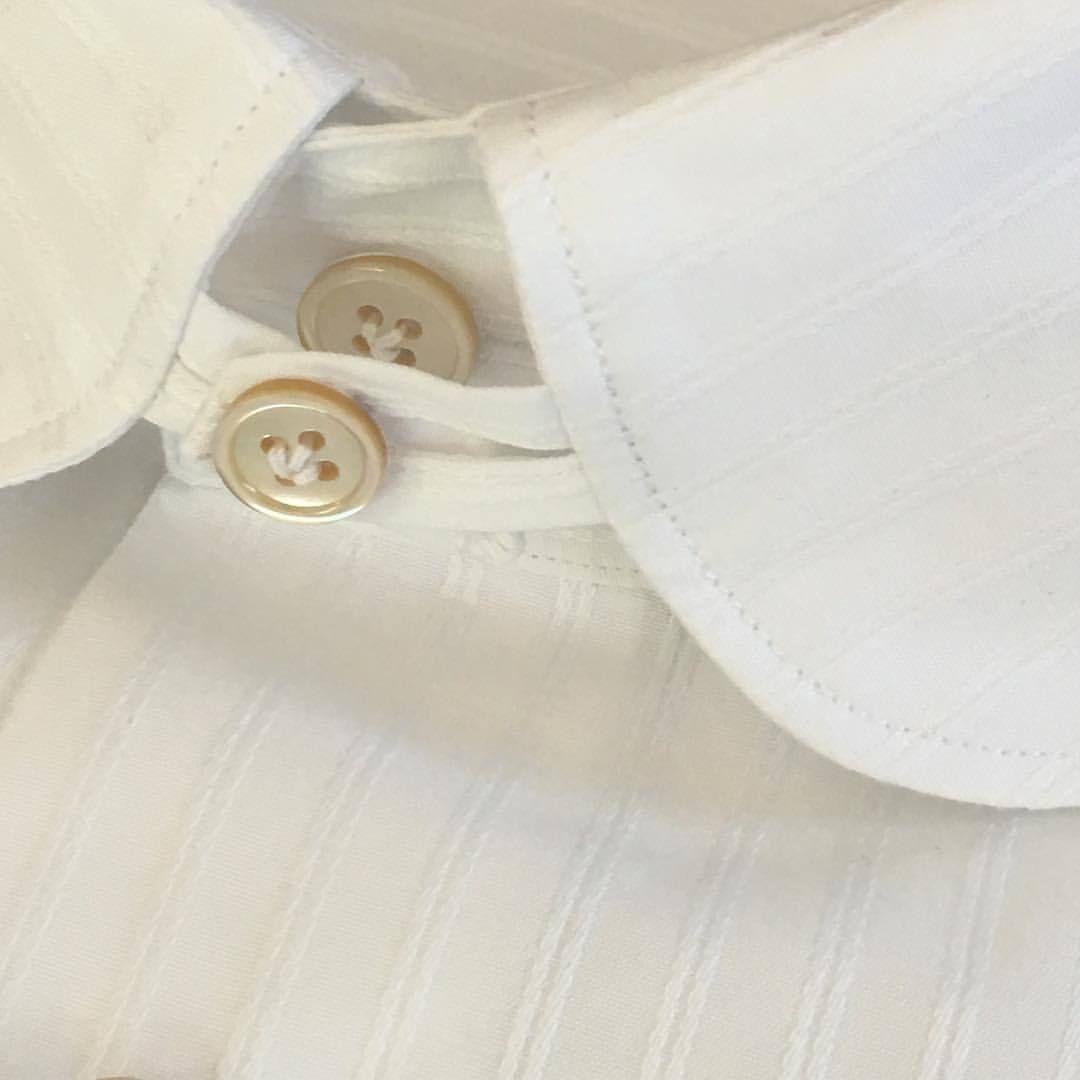 #dettagli di #stile #tabcollar #only #handmade #contemporary #shirt #angeloinglese #white #icoloridellamiaterra