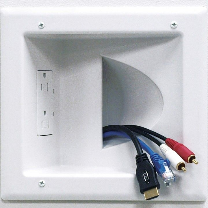 recessed wall plate for low voltage data cables with duplex rh pinterest com