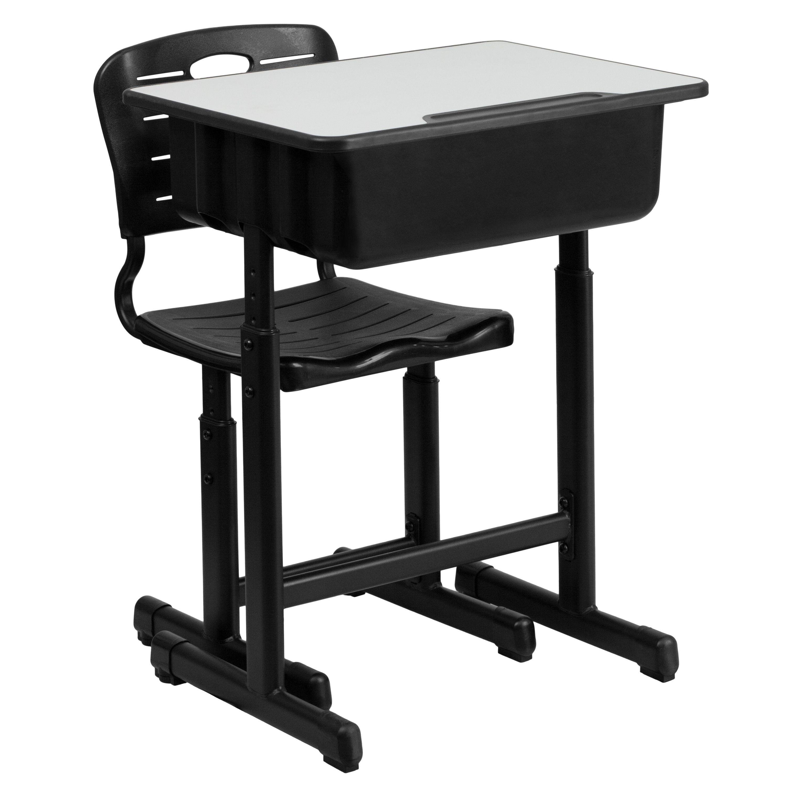 """Adjustable Height Student Desk and Chair 23.63""""W x 17.75"""