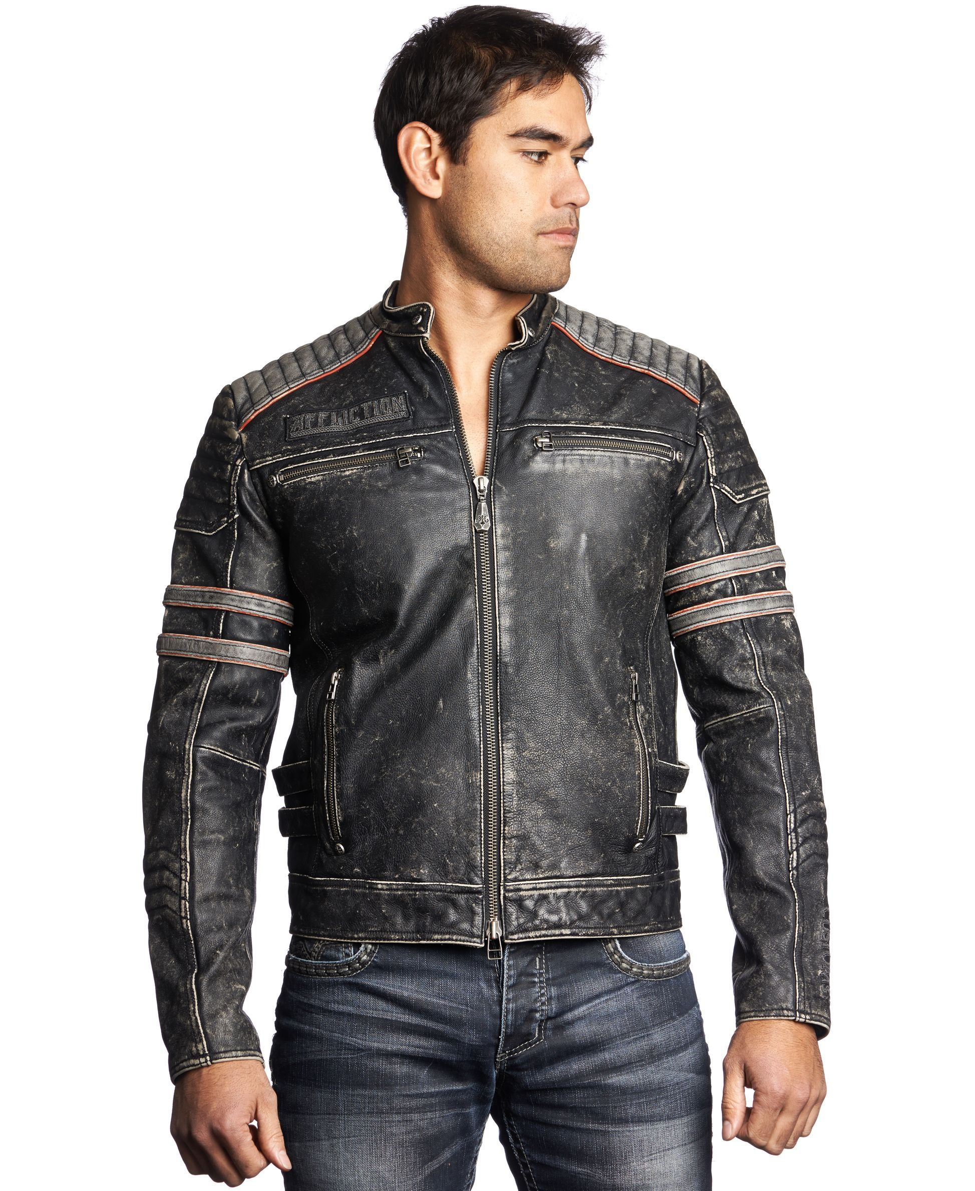 Affliction Leather Moto Jacket Leather moto jacket