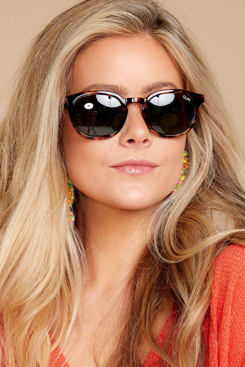c62605e254ce3 Quay Australia Walk On Sunglasses - Trendy Tortoise Sunglasses - Sunglasses  -  50.00 – Red Dress Boutique