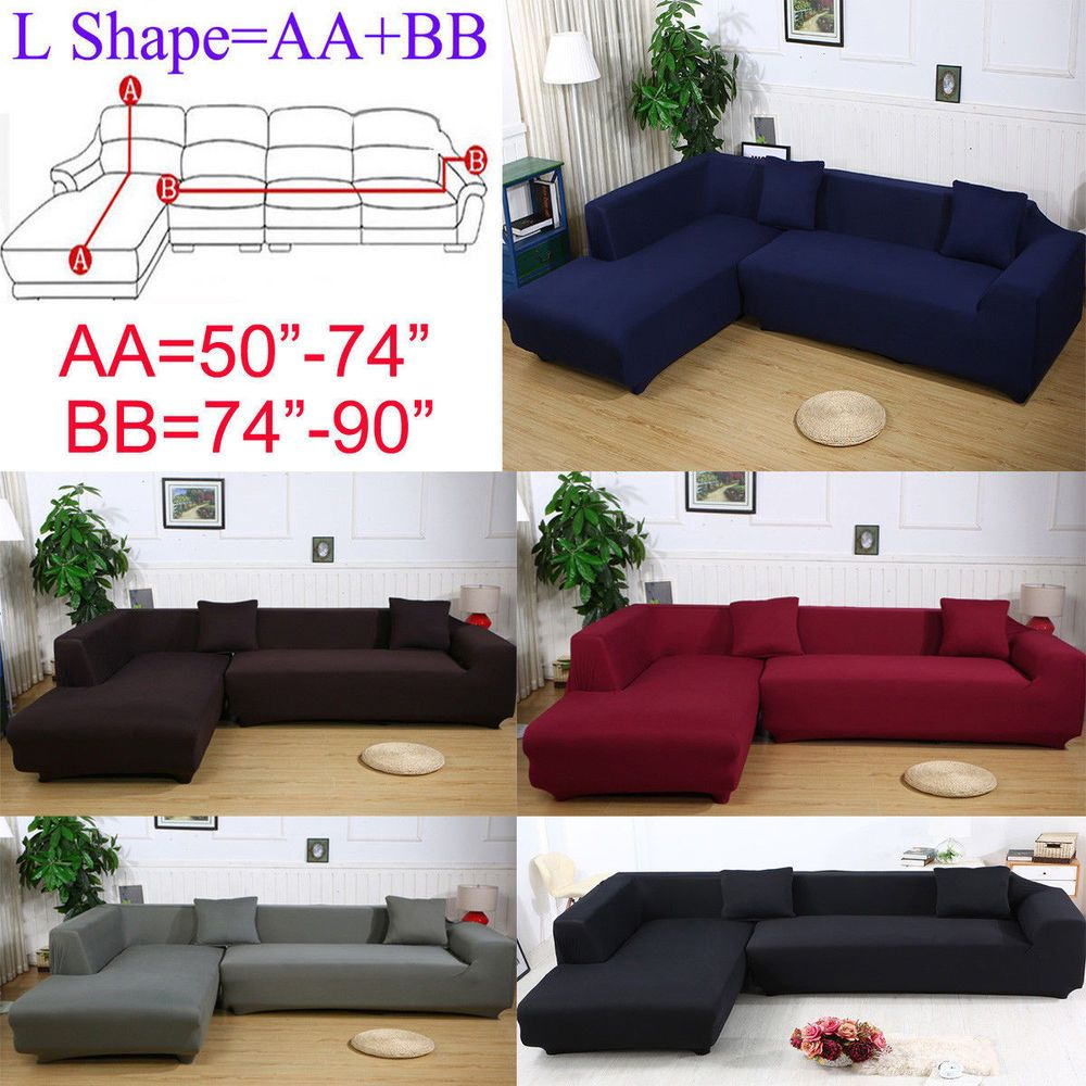 L Shaped Couch Slipcover Fabric Sofa Cover Sectional Sofa Slipcovers Sofa Covers