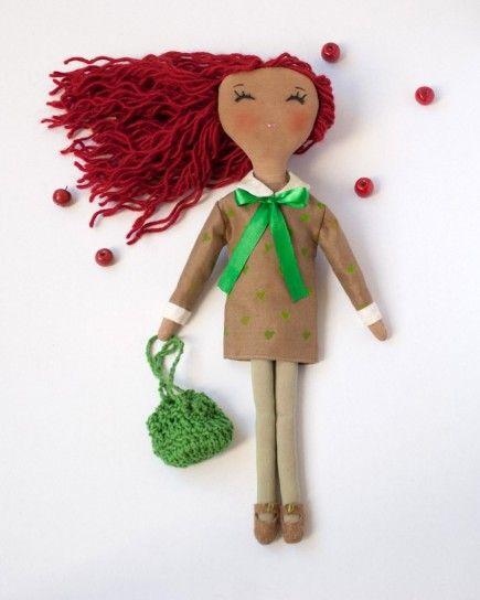 Bambola di pezza con borsetta bambole e pupazzi di pezza! fabric