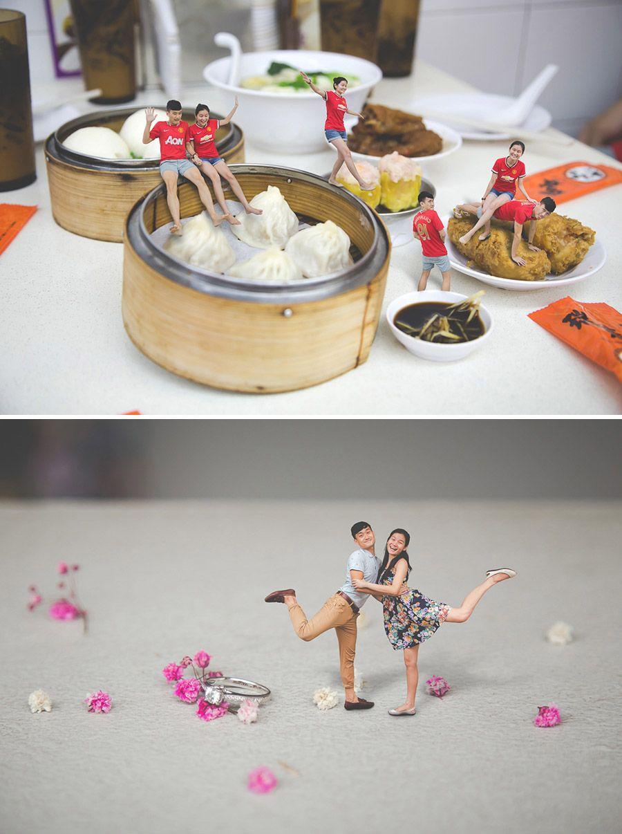 Adorable and unique pre wedding engagement photoshoot ideia