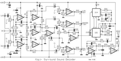 Audio Surround Decoder Circuit Surround Audio Surround Sound Dolby Audio