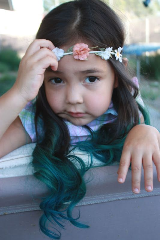 Dip Dye Hair Splat Aqua Rush Splat Kids Hair Color Dip Dye