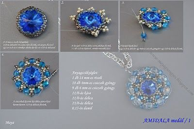 A pretty pendant by Maya from her blog Maya Pearls, where she has other tutorials, just as beautiful as this one!