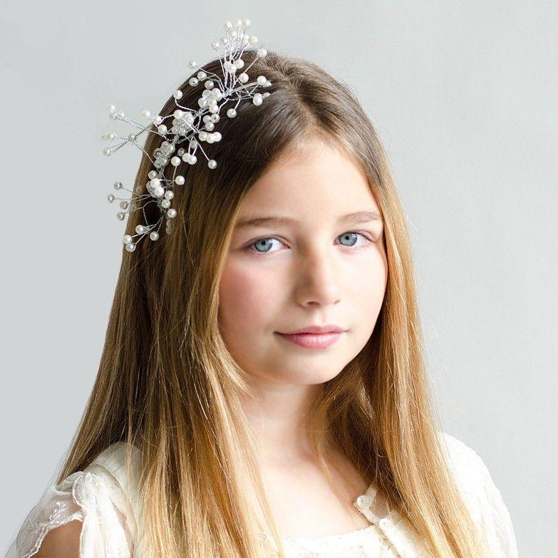 Diadema Boda para el pelo con forma de perla Hecha a mano con adornos para el cabello diadema dorada diadema Diademas con forma de hoja Boda para mujer Joyer/ía Accesorios para el cabello