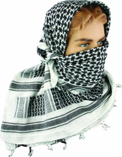 Echarpe-Shemagh-Armee-Militaire-Combat-Patrouille-Tactique-Shermag-Keffiyeh- blanc-Arafat 71762e91df1