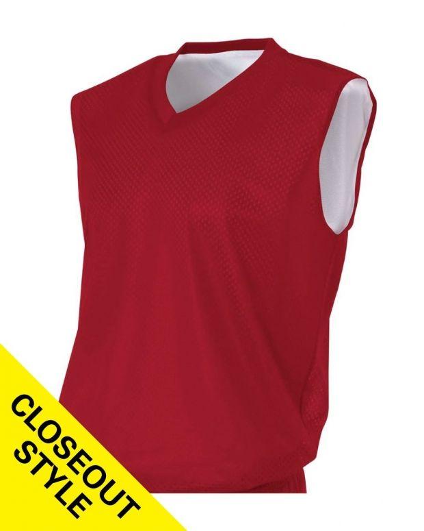 Reversible Mesh/Dazzle Muscle Jersey (Graphite/White - S)