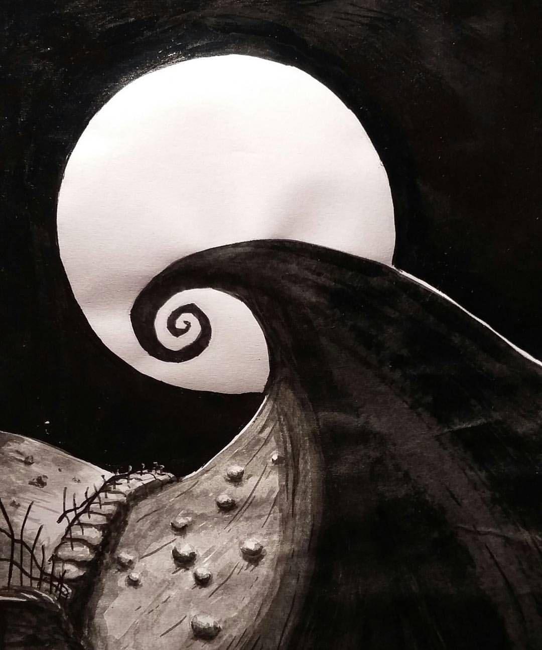 En honor a todo tintubre✒ #spiral #hill #drawing #inktober #draw ...