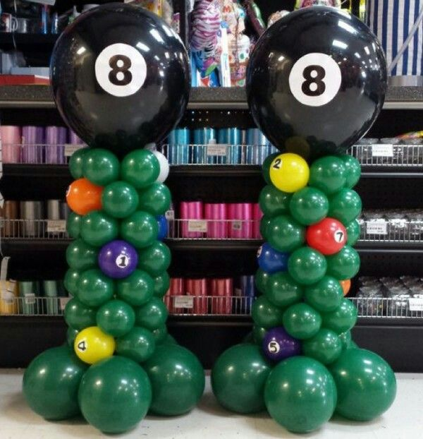 Pool Party Balloons Balloon Columns Balloon Decorations