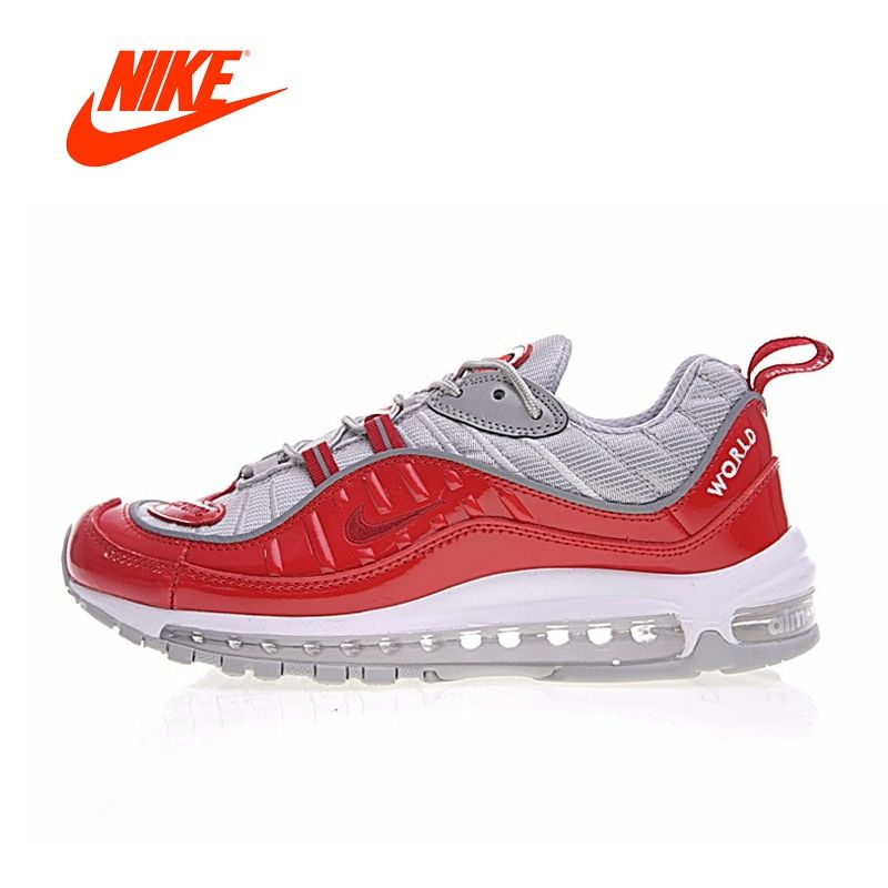 9984f08e990 Original New Arrival Authentic NikeLab Air Max 98 x Supreme Men s Running  Shoes Sport Outdoor Sneakers Good Quality 844694-600
