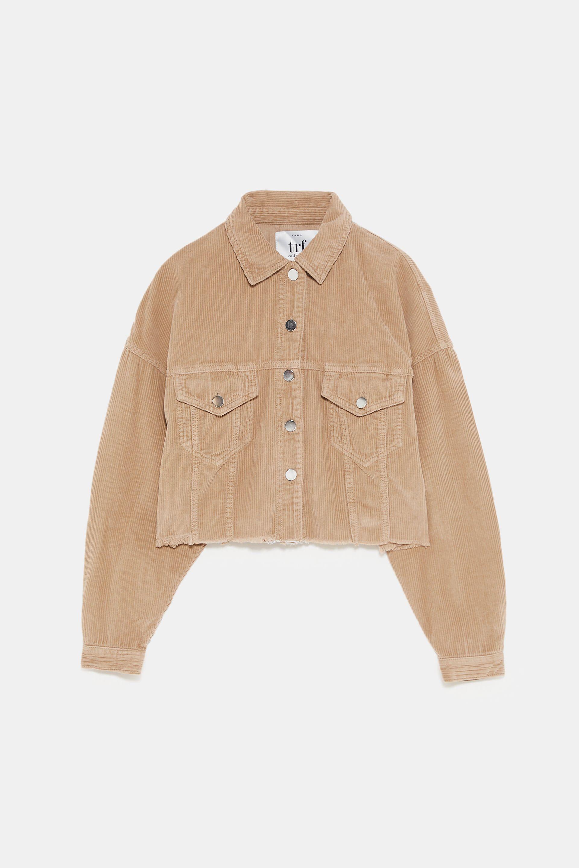 e46f2025 Cropped corduroy jacket in 2019 | wardrobe essentials | Corduroy ...