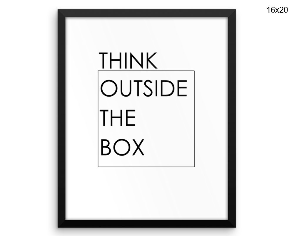 outside the box office. Think Outside The Box Canvas Art Printed Office Print Decor O
