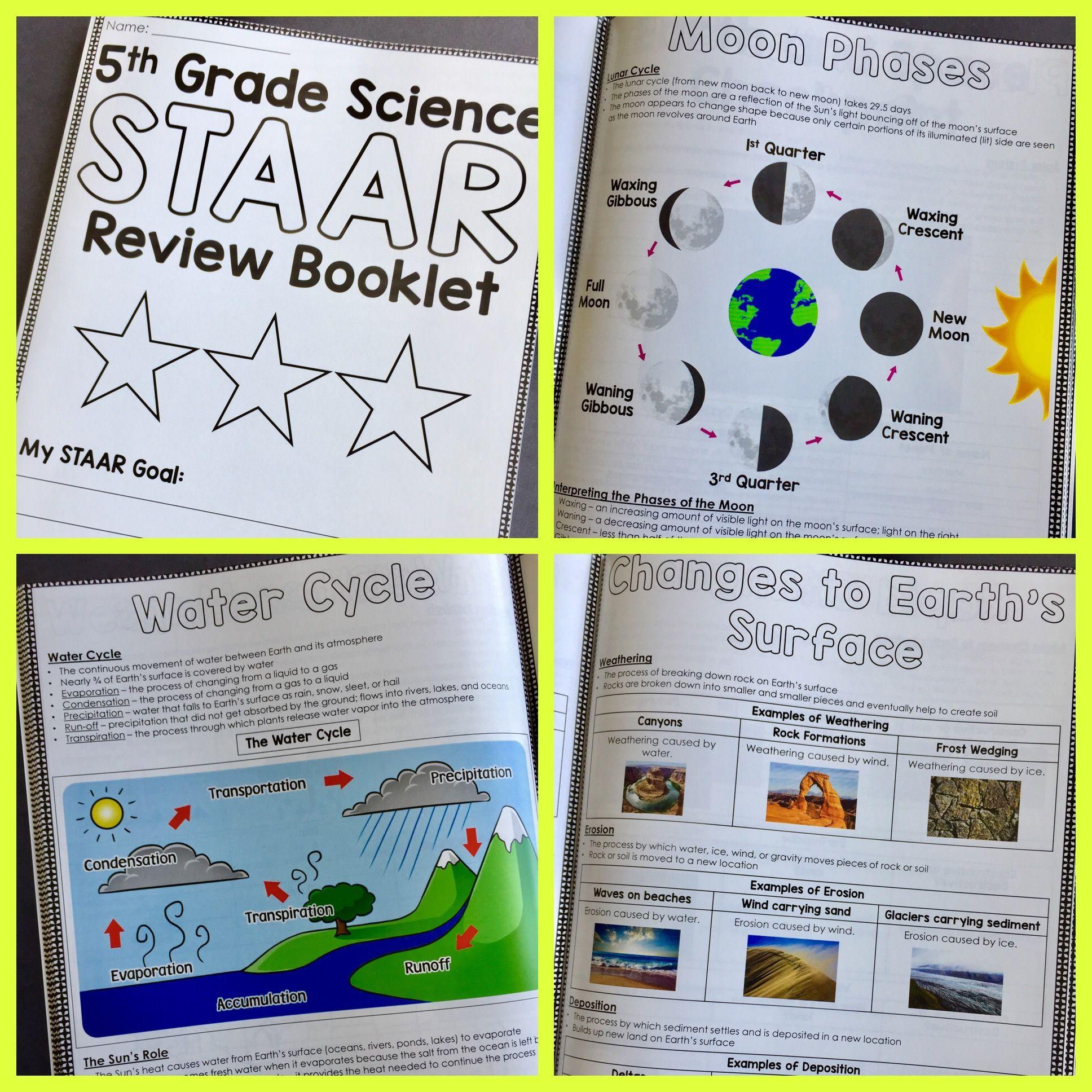 5th Grade Science Staar Review Booklet Bundle