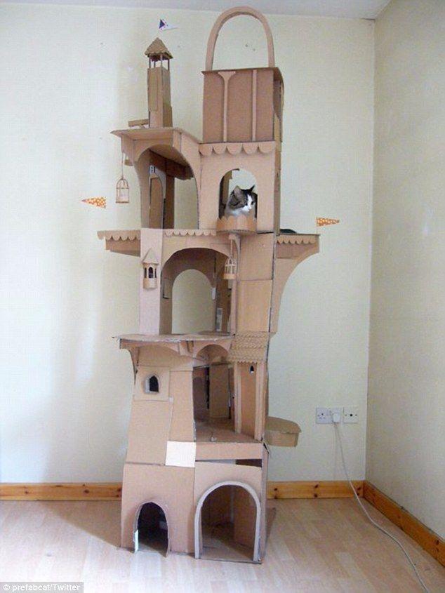 man builds incredible dragon shaped castle for his cat castles rh pinterest com