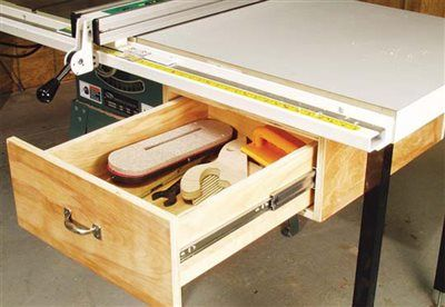 AW Extras 4 3 14 Tablesaw Tool Drawer