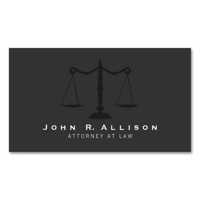 Attorney simple justice scales black business card business cards attorney simple justice scales black business card wajeb Images