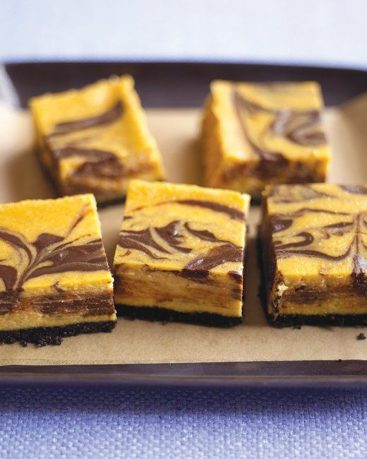 Chocolate-Pumpkin Cheesecake Bars