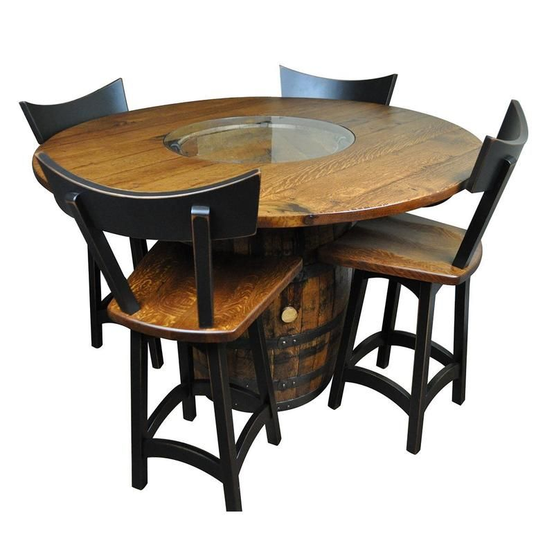 Whisky Barrel Table And Chairs Rustic