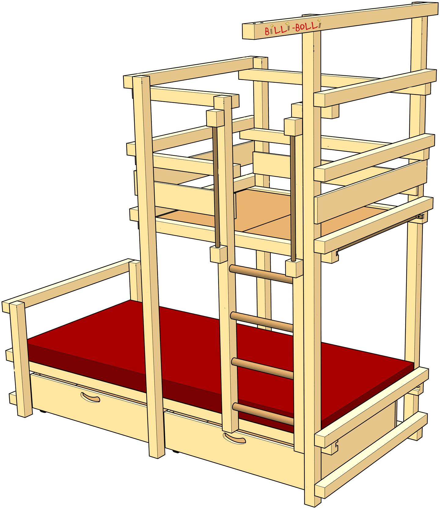 DachschrägenSpielbett Kinder bett, Bett, Kinderbett