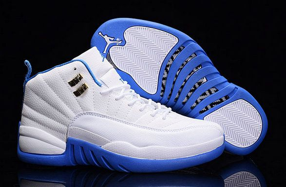 4c5a9c8463c06b Authentic Cheap Air Jordan 12 Cool Jordan 12 University Blue AJ12 White  North Carolina Blue 510815-127 Basketball Shoe for Men