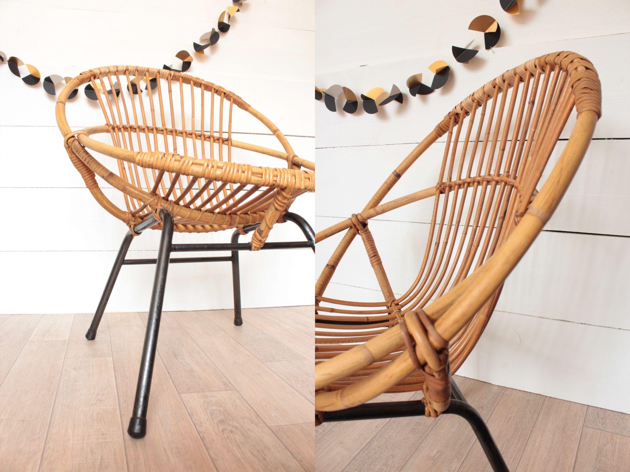 fauteuil rotin vintage trendy little - Fauteuil Rotin Vintage