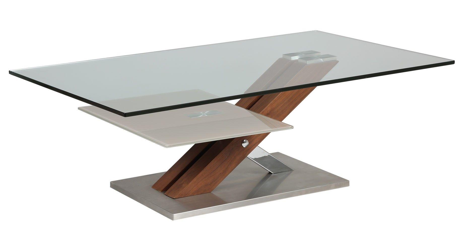 Table Basse En Verre Socle Bois Et Metal With Images Oak