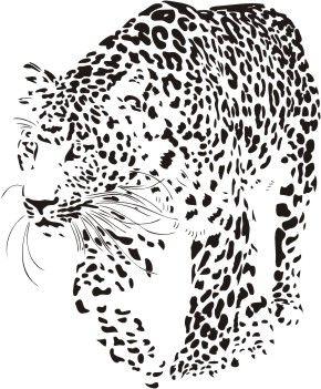 Leopard Stencil by TheHazmatQueen on DeviantArt