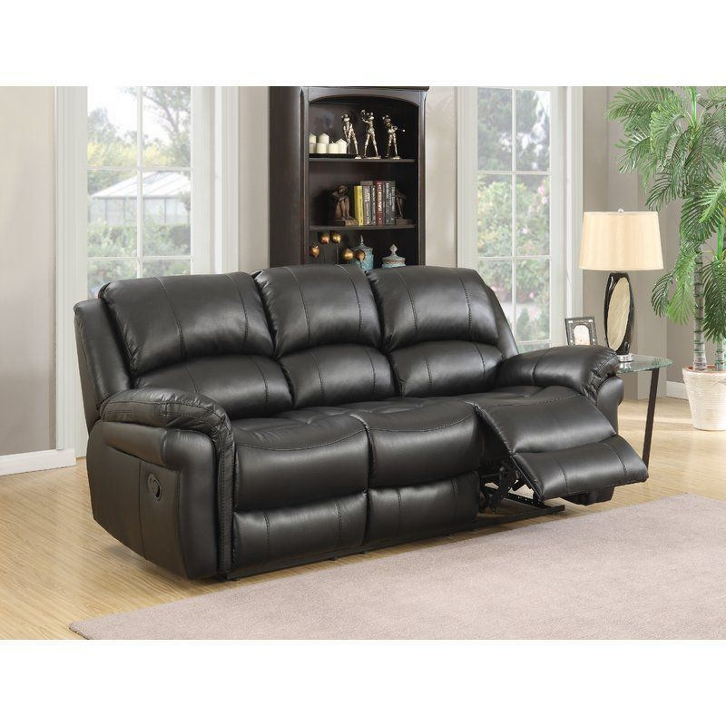 3 seater reclining sofa black faux leather seat foam metal living rh pinterest it