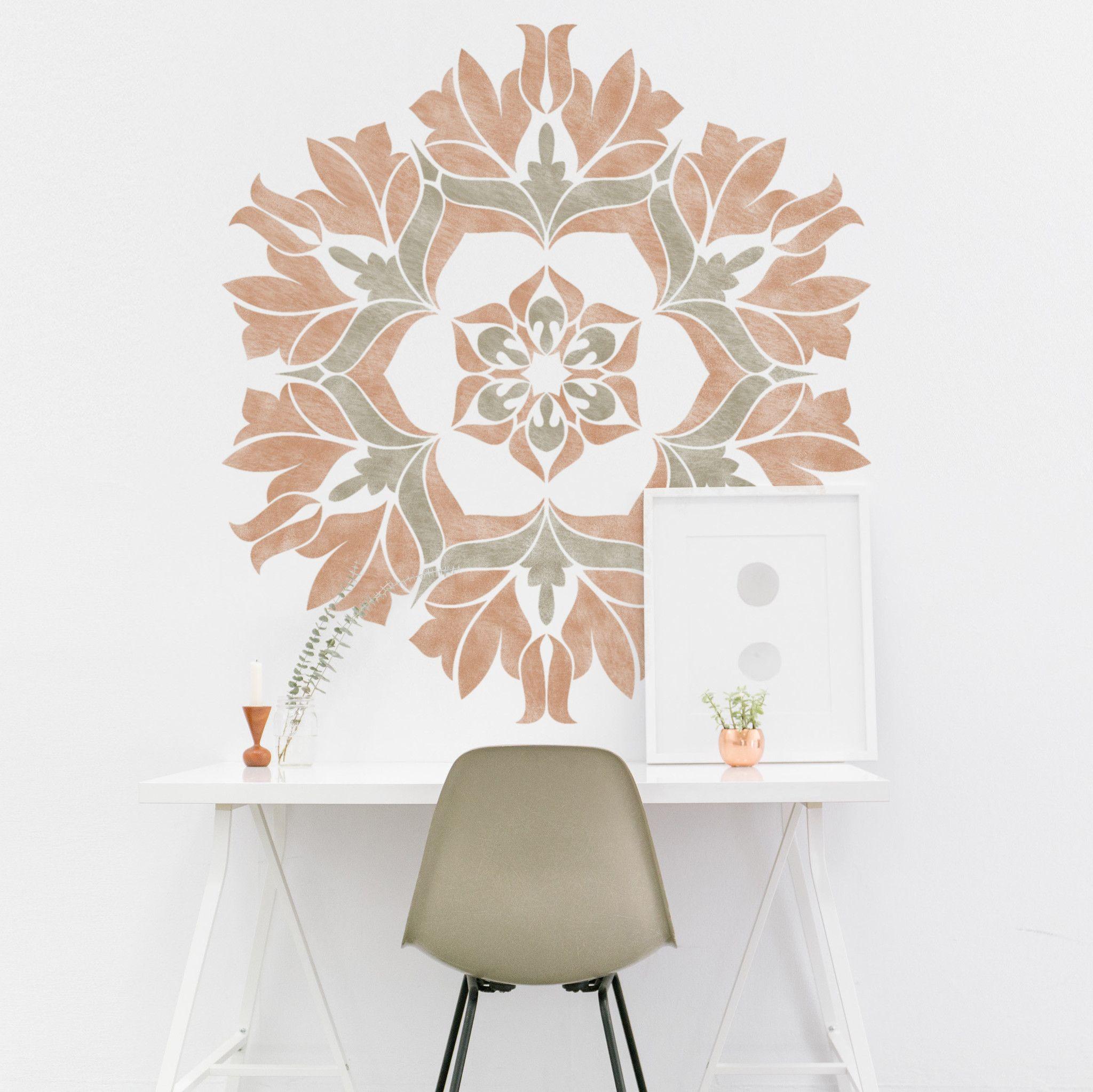 mandala painting stencil geometric stencil for diy decor projects rh pinterest com